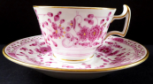 Coffee cup with pink ornament - Meissen