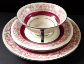 Art deco cup with saucer and dessert plate - Königszelt