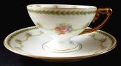 Coffee cup with floral wreath - Rosenthal