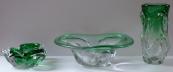 Bowl, small bowl and vase - Jan Broz, Skrdlovice