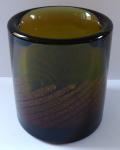 Round, cylindrical vase with mica - Frantisek Vizner
