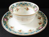 Coffee cup, roses, festons, golden lines - Pirkenhammer