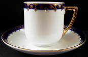 Coffee cup with blue edge and gilding - Dallwitz, Epiag