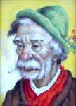Josef M. Cernovicky - Portrait of a man with a cigarette