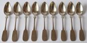 Nine silver spoons - G. A. Schell, Kassel