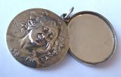 Art Nouveau silver opening medallion, pendant
