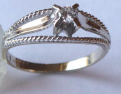 Ring made of white gold with brilliant