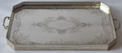 Large silver tray with sides - Eduard Gottsleben, Vienna