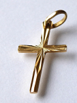 Gold small pendant - cross