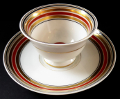Art deco coffee cup, with strips - Thomas, Bavaria