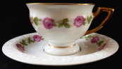 Coffee cup with wreaths of roses - Rosenthal