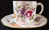 Coffee cup with colorful flowers - Derby Posies