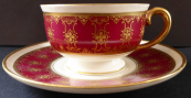Coffee cup with wine belt and gilding - Langenthal