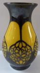 Yellow small vase, silver art nouveau ornament - Thomas