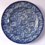 Blue stoneware plate - Budweis