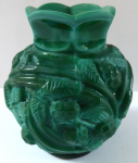 Small vase, glass Jade - Fruits and leaves