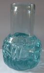 Clear and light blue vase - Frantisek Vizner, 1975