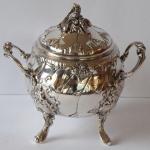 Silver sugar bowl, Rococo style - Franz Rumwolf, Vienna