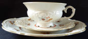 Cup with dessert plate, rococo style - Reichenbach
