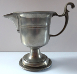 Pewter jug, round base - monogram CM