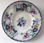 Stoneware plate, Chinese Floral Pattern - Francis Morley, Shelton