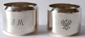 Two silver napkin holders - Czechoslovakia 1921 - 1928