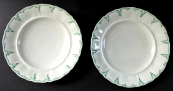Two plates with a green border - Ceske Budejovice 1856