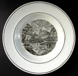 Plate with alpine motif - Dallwitz