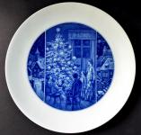 Meissen cobalt plate with Christmas motif