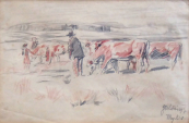 Josef Koci - On the pasture, Mysliv