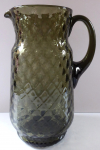 Jug, made of smoky glass - caro pattern