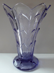 Art deco vase made of purple glass