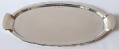 Oval silver smaller tray with handles - Sandrik