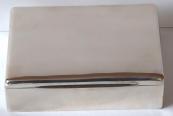 Silver box with mahogany wood - Romania, Muntenia