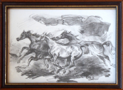 Emil Kotrba - Three running horses