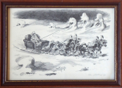 Emil Kotrba - Russian horse-drawn carriage, with sledge