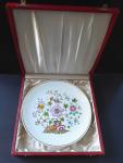 Meissen plate, colorful pattern, original case