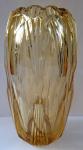 Art deco vase, cut, amber glass
