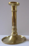 Brass smaller candlestick with bottom bowl