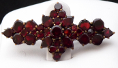 Garnet brooch, star and ring
