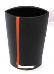 Crystal and dark vase with an orange stripe - Karel Malivanek