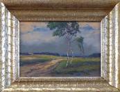 Alois Janecek Pardubsky - Field footpath with birches