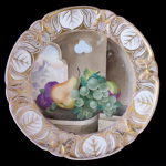 Plate with fruit and a view of the castle - Elbolgen