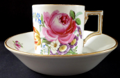 Classicist cup Meissen, with painted flowers