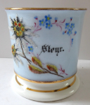Mug with a twig and flowers of glass beads - Steyer