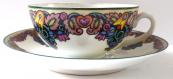 Painted decorative cup - Alois Jaronek, model number 354