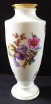 Vase, amphora, with flowers and gilding - Victoria, Schönbach Praha