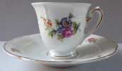 Mocha cup with colorful flowers - Rosenthal, Bavaria