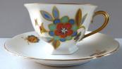 Mocha cup, art deco ornament - Loket