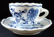 Mocha cup onion pattern - Meissner Ofen-und Porzellanfabrik Teichert